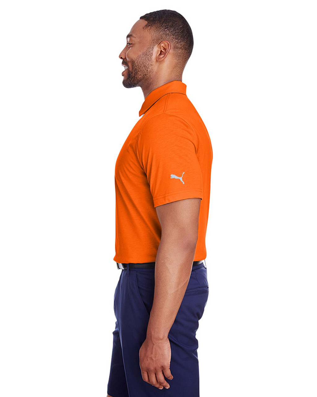 Vibrant Orange - side, 596920 Puma Golf Men's Fusion Polo | Blankclothing.ca