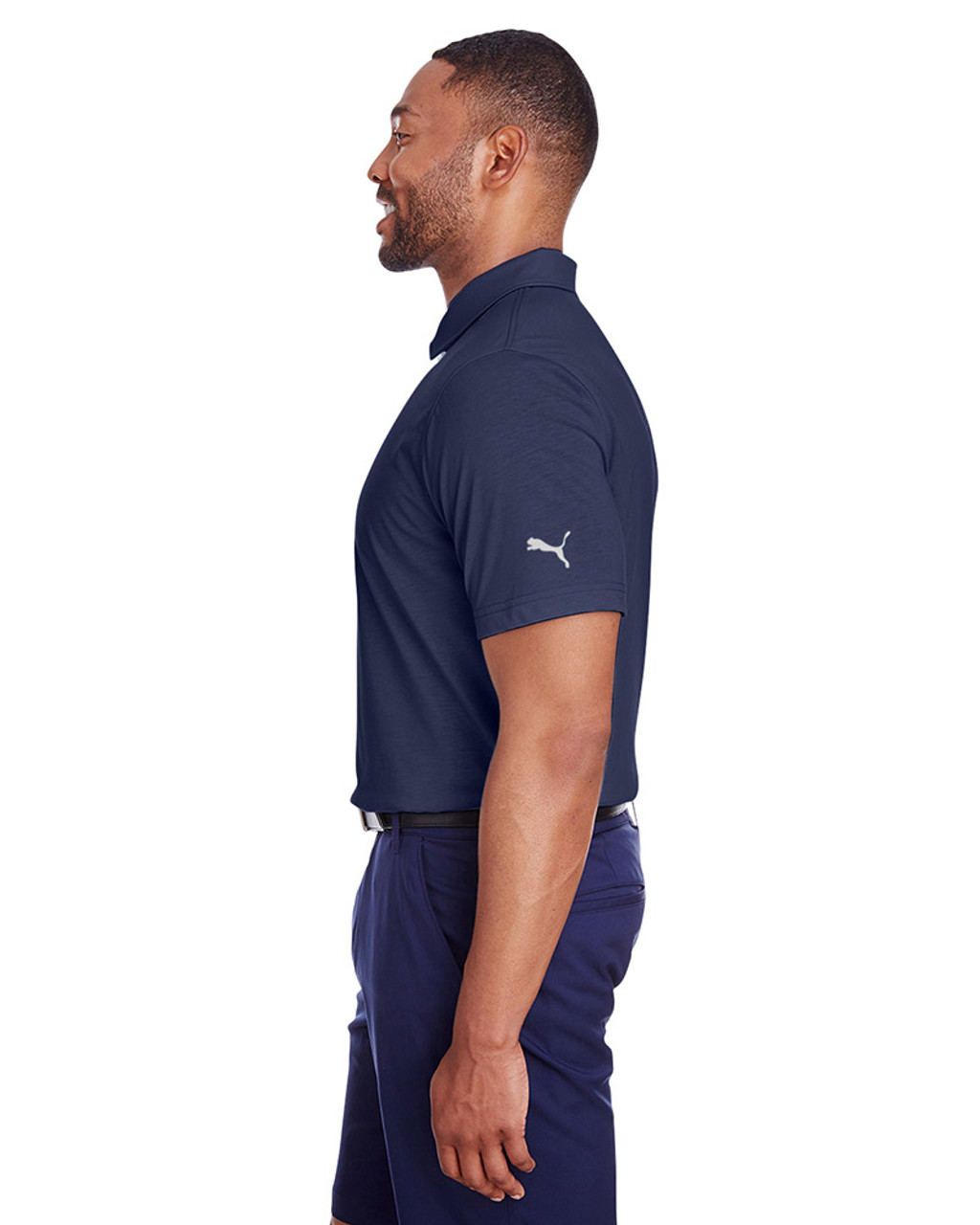 Peacoat - side, 596920 Puma Golf Men's Fusion Polo | Blankclothing.ca