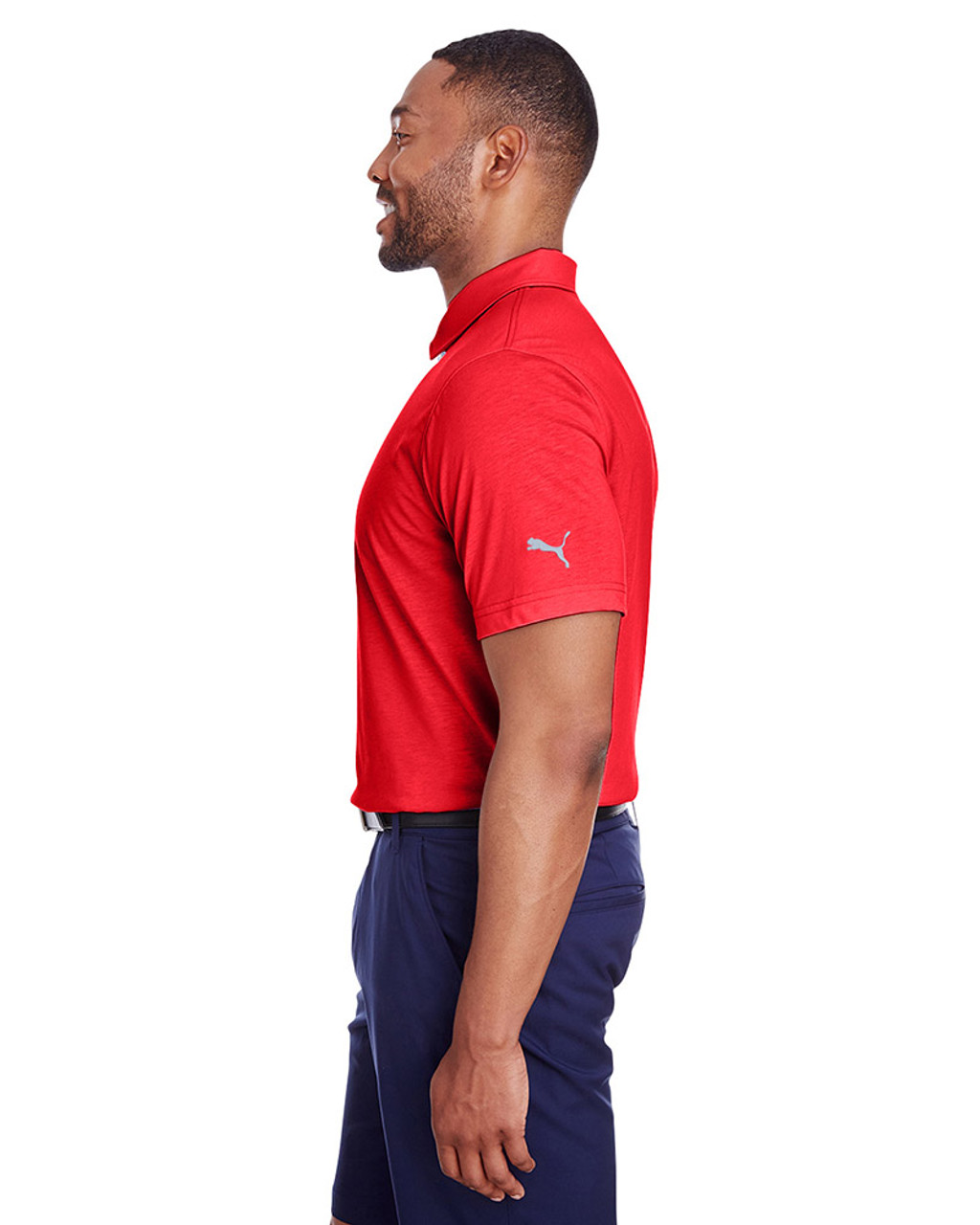 High Risk Red - side, 596920 Puma Golf Men's Fusion Polo | Blankclothing.ca