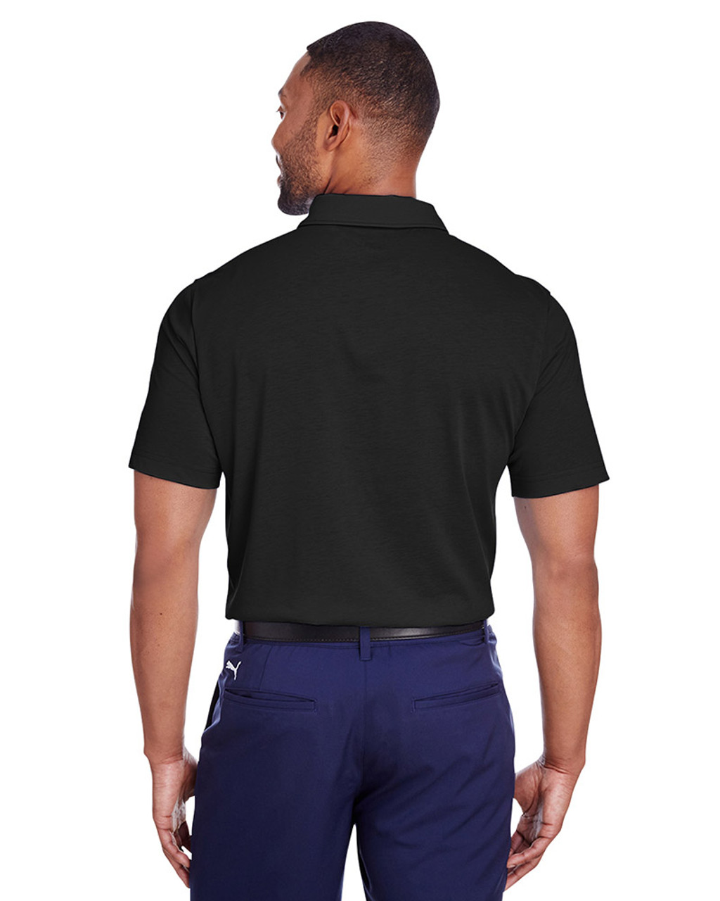 Puma Black - back, 596920 Puma Golf Men's Fusion Polo | Blankclothing.ca