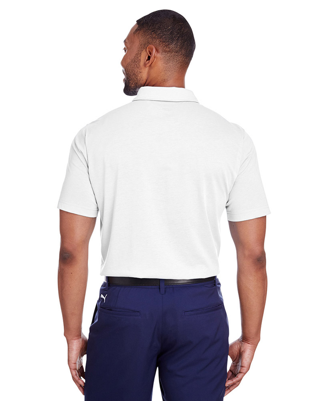 Bright White - back, 596920 Puma Golf Men's Fusion Polo | Blankclothing.ca