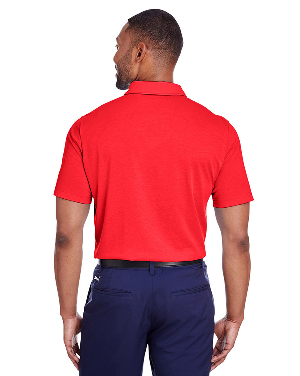 High Risk Red - back, 596920 Puma Golf Men's Fusion Polo | Blankclothing.ca