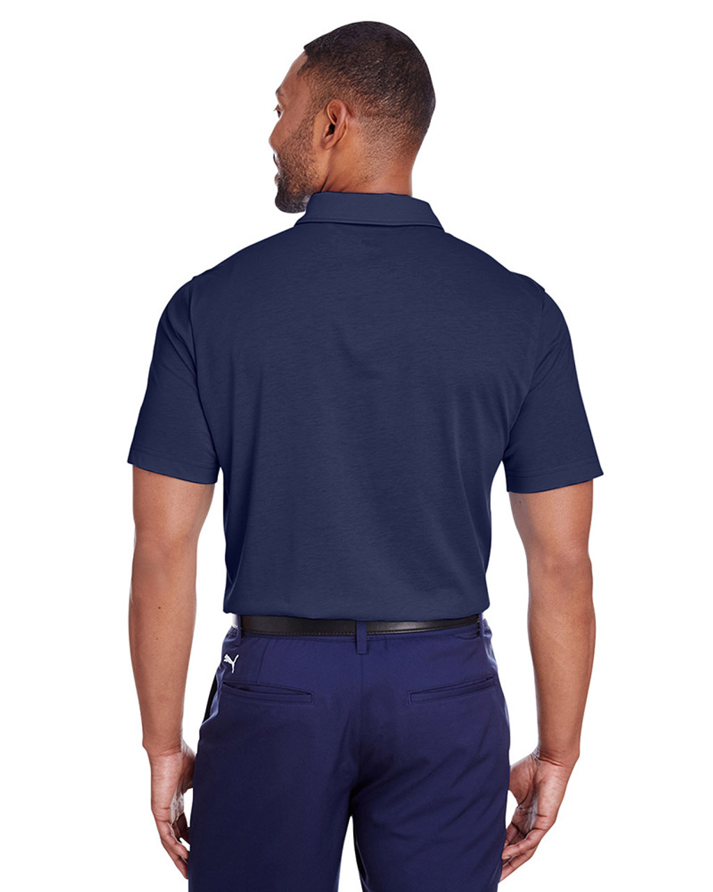 Peacoat - back, 596920 Puma Golf Men's Fusion Polo | Blankclothing.ca