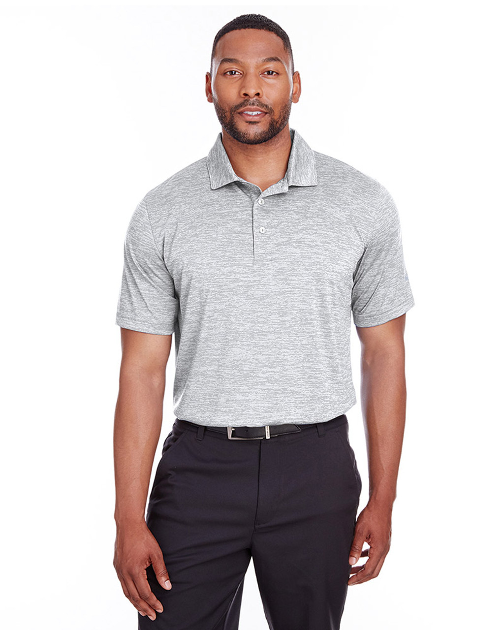 Bright White - 596801 Puma Golf Men's Icon Heather Polo | Blankclothing.ca