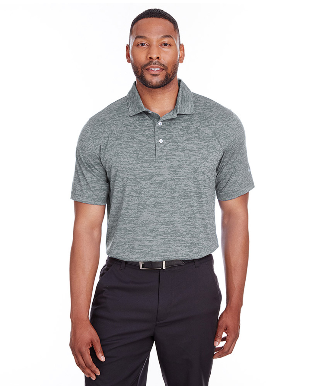 Quiet Shade - 596801 Puma Golf Men's Icon Heather Polo | Blankclothing.ca