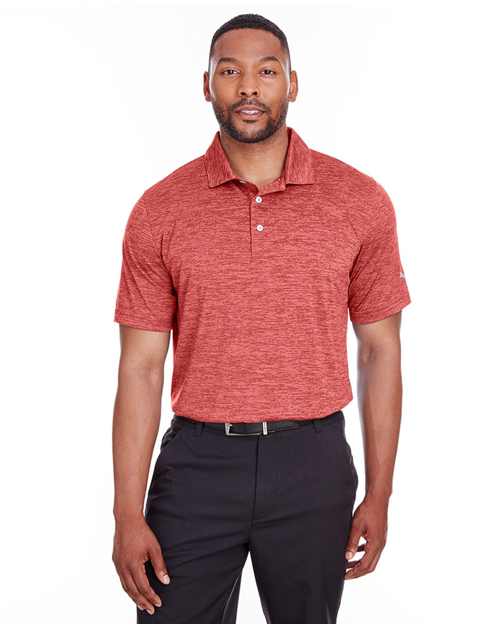 High Risk Red - 596801 Puma Golf Men's Icon Heather Polo | Blankclothing.ca