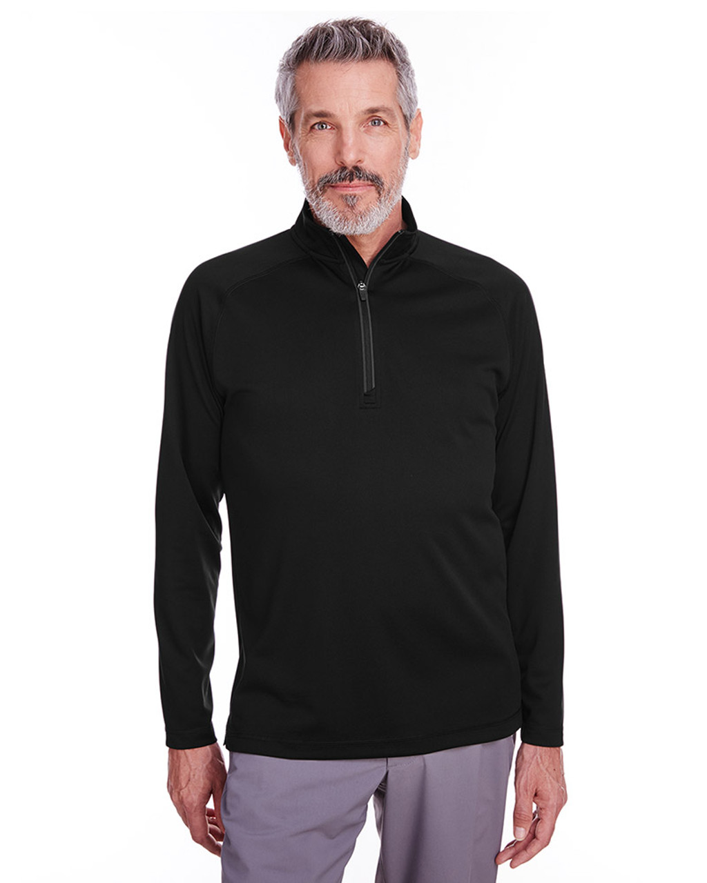 Black - S16797 Spyder Men's Freestyle Half-Zip Pullover Sweatshirt | Blankclothing.ca