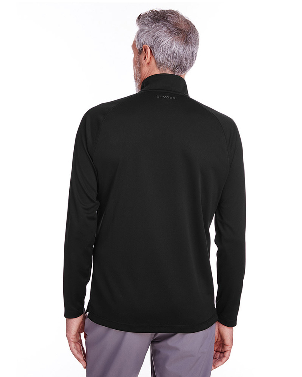 Black - back, S16797 Spyder Men's Freestyle Half-Zip Pullover Sweatshirt | Blankclothing.ca