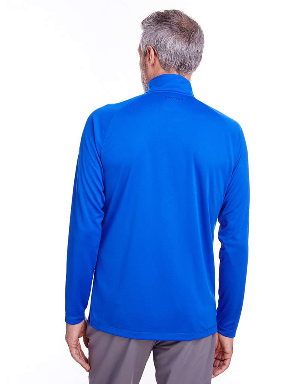 Royal - back, S16797 Spyder Men's Freestyle Half-Zip Pullover Sweatshirt | Blankclothing.ca