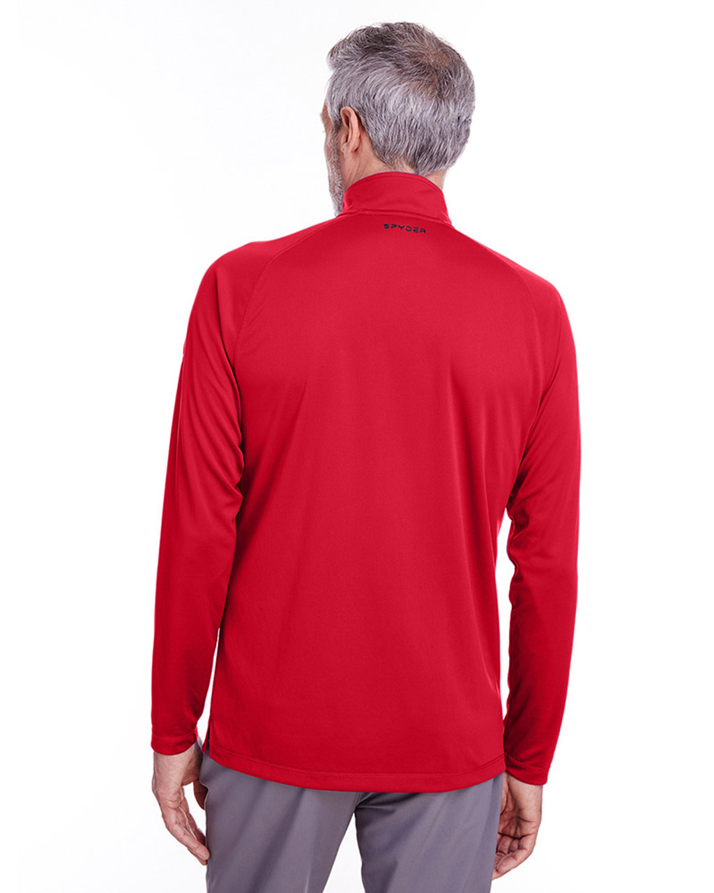 Red - back, S16797 Spyder Men's Freestyle Half-Zip Pullover Sweatshirt | Blankclothing.ca