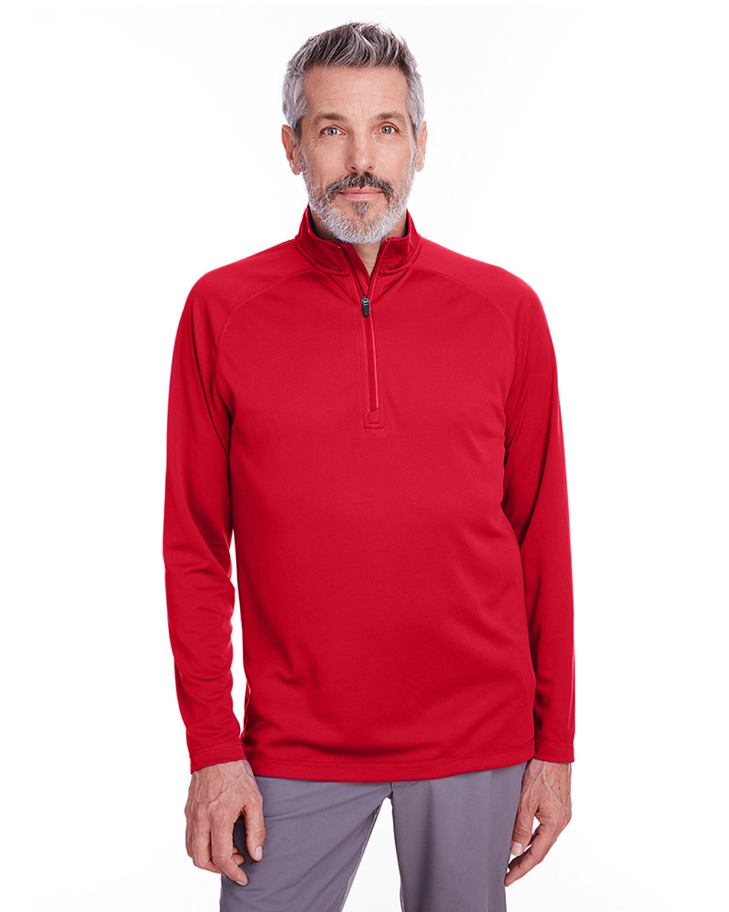 Red - S16797 Spyder Men's Freestyle Half-Zip Pullover Sweatshirt | Blankclothing.ca