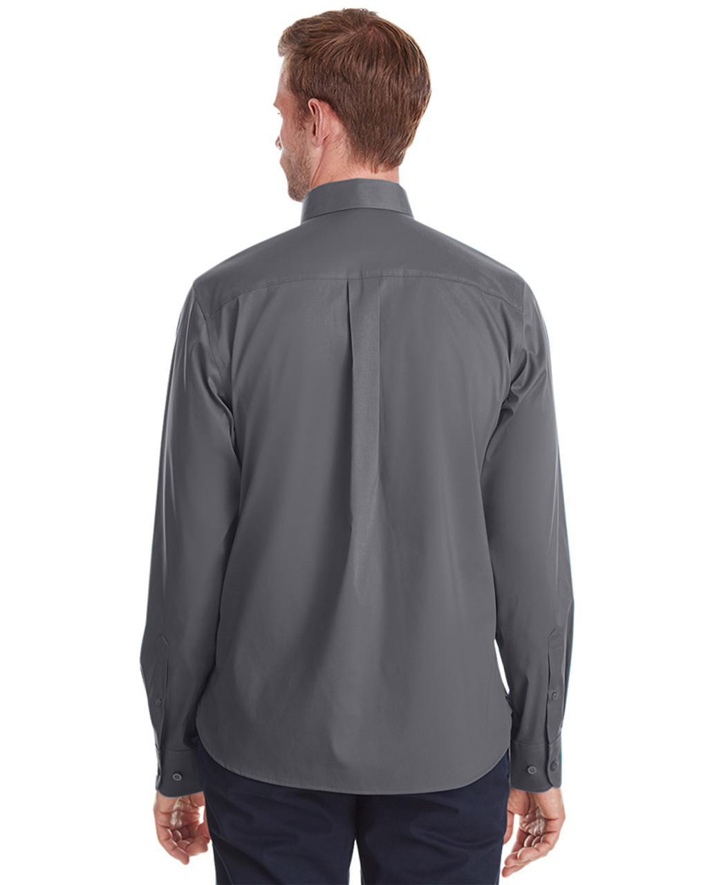 Graphite - back, DG561 Devon & Jones Men's Crown Collection™ Stretch Broadcloth Untucked Shirt | Blankclothing.ca