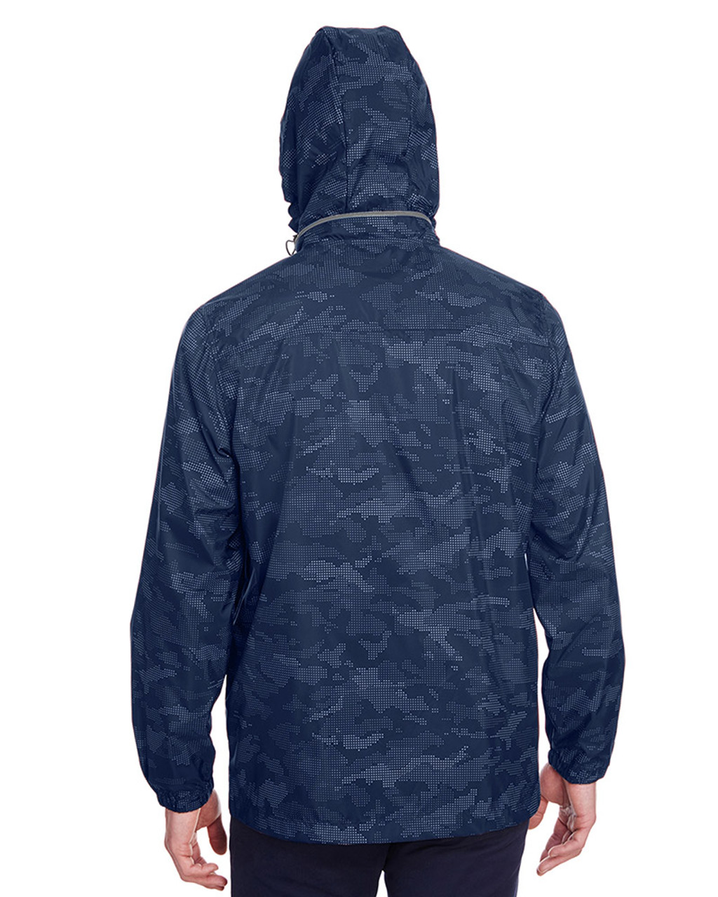 Classic Navy/Carbon - back, NE711 North End Men's Rotate Reflective Jacket   Blankclothing.ca
