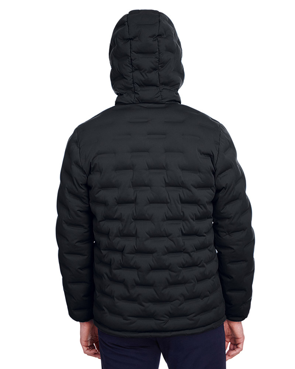 Black/Carbon - back, NE708 North End Men's Loft Puffer Jacket | Blankclothing.ca