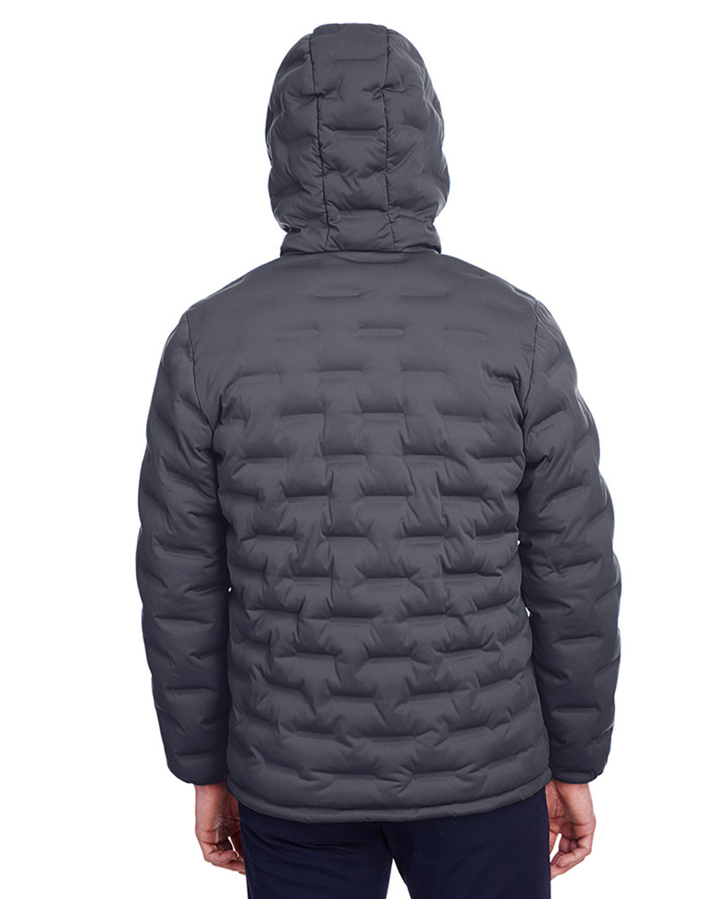 Carbon/Black - back, NE708 North End Men's Loft Puffer Jacket | Blankclothing.ca