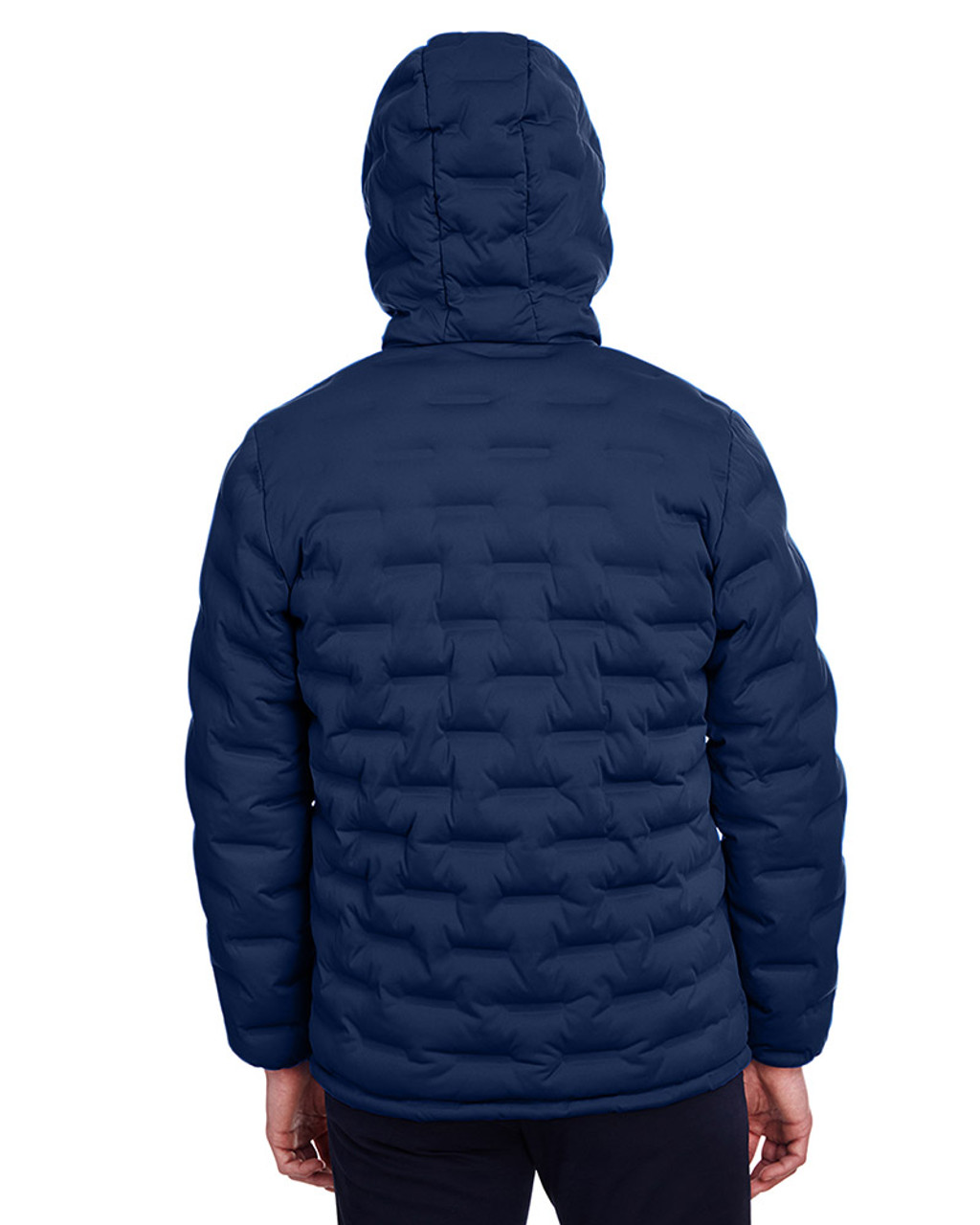 Classic Navy/Carbon - back, NE708 North End Men's Loft Puffer Jacket | Blankclothing.ca