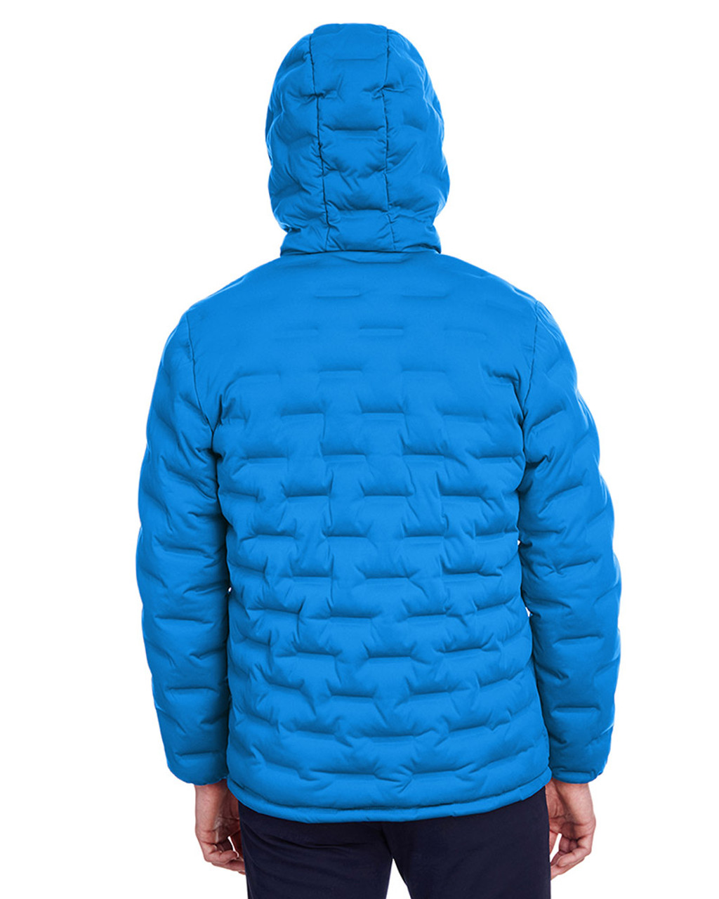 Olympic Blue/Carbon - back, NE708 North End Men's Loft Puffer Jacket | Blankclothing.ca