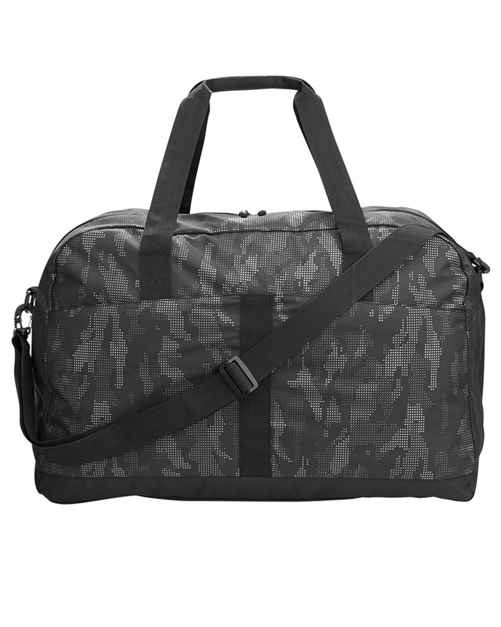 Black/Carbon - NE902 North End Rotate Reflective Duffel Bag | Blankclothing.ca