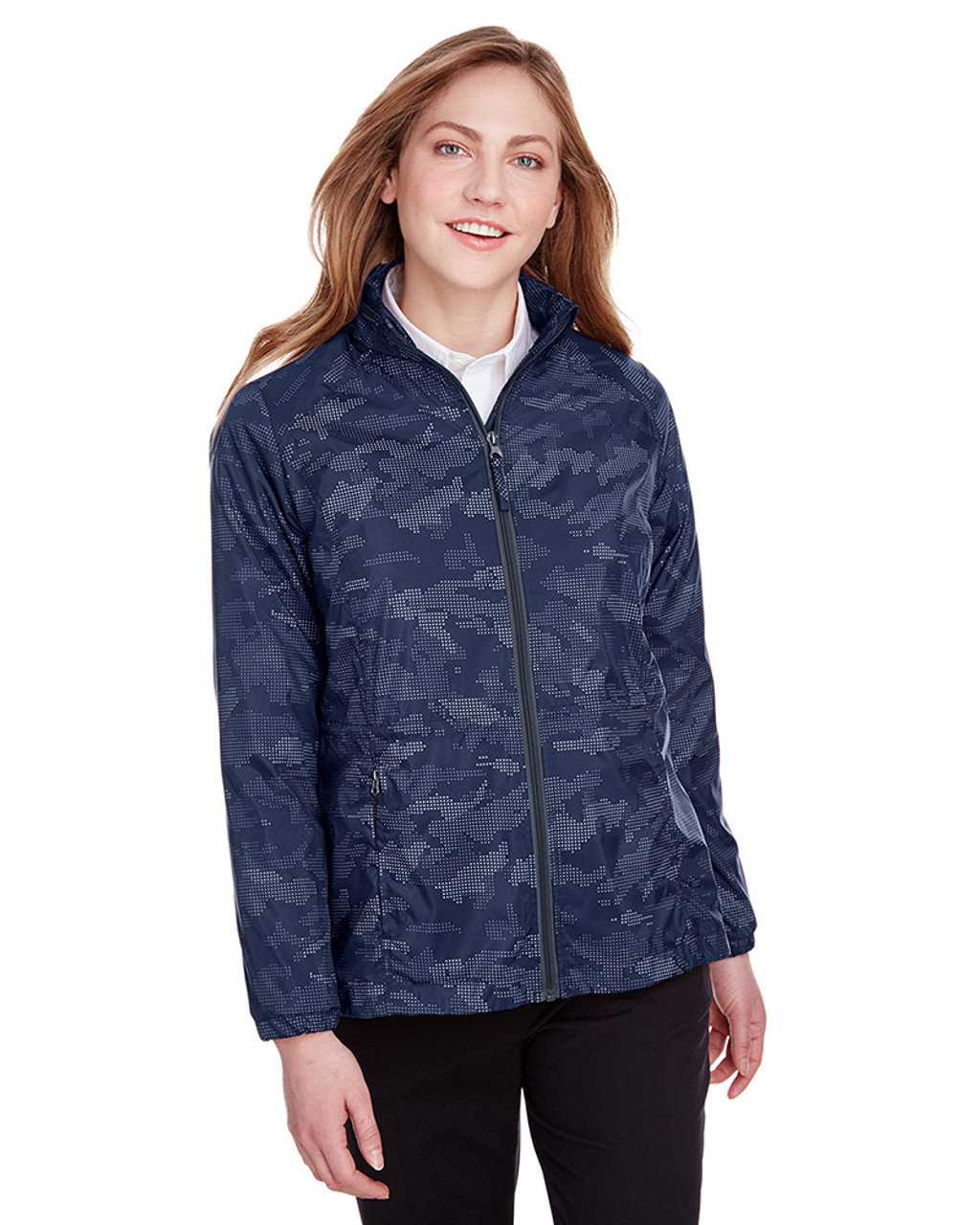 Classic Navy/Carbon - NE711W North End Ladies' Rotate Reflective Jacket | Blankclothing.ca