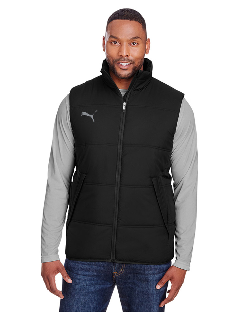 Puma Black/Quiet Shade - 582007 Puma Sport Essential Adult Padded Vest | BlankClothing.ca