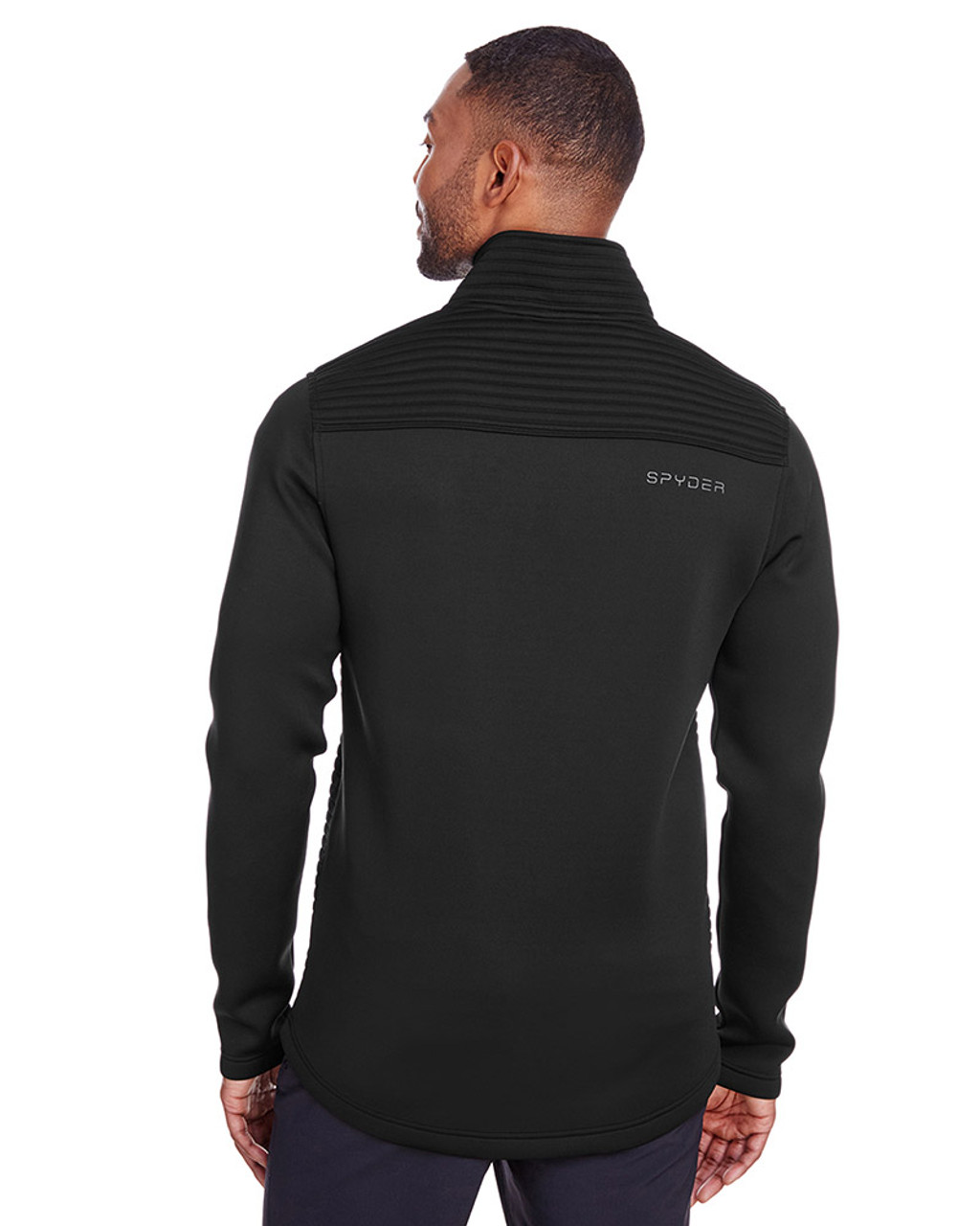 Black - back, S16539 Spyder Men's Venom Full-Zip Jacket | Blankclothing.ca