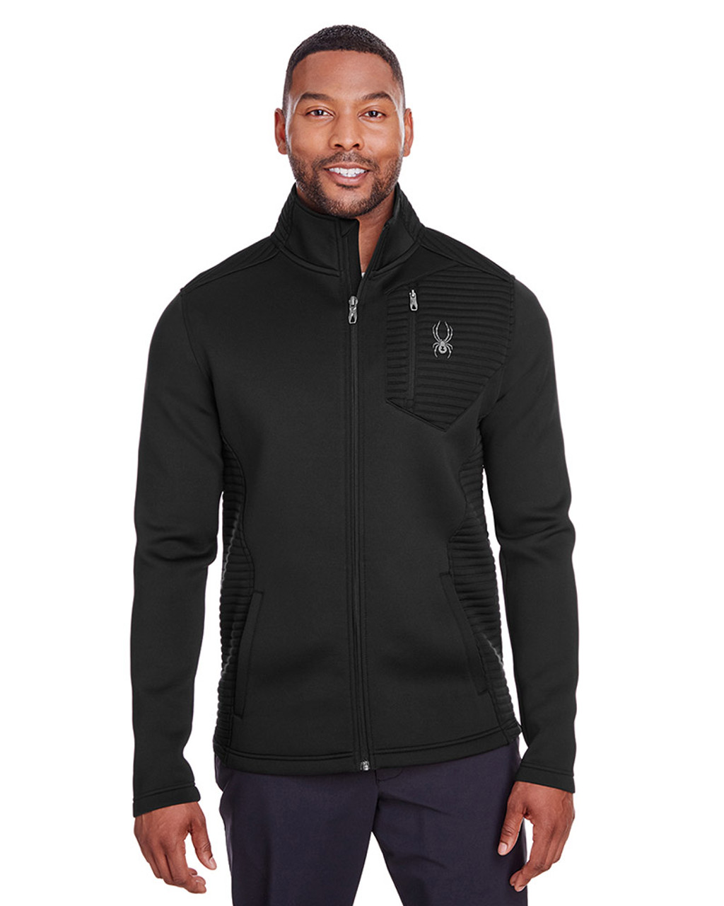 Black - S16539 Spyder Men's Venom Full-Zip Jacket | Blankclothing.ca