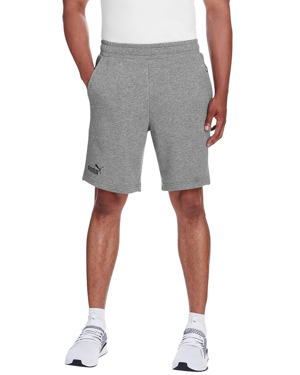 Midnight Grey Heather/Puma Black - 582008 Puma Sport Essential Adult Bermuda Short | Blankclothing.ca