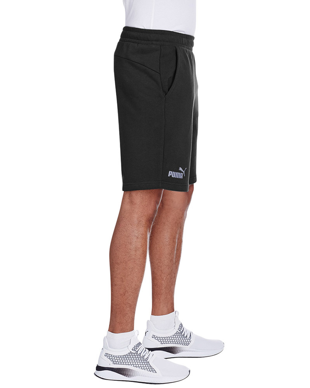 Puma Black/Smoke Pearl - side, 582008 Puma Sport Essential Adult Bermuda Short | Blankclothing.ca