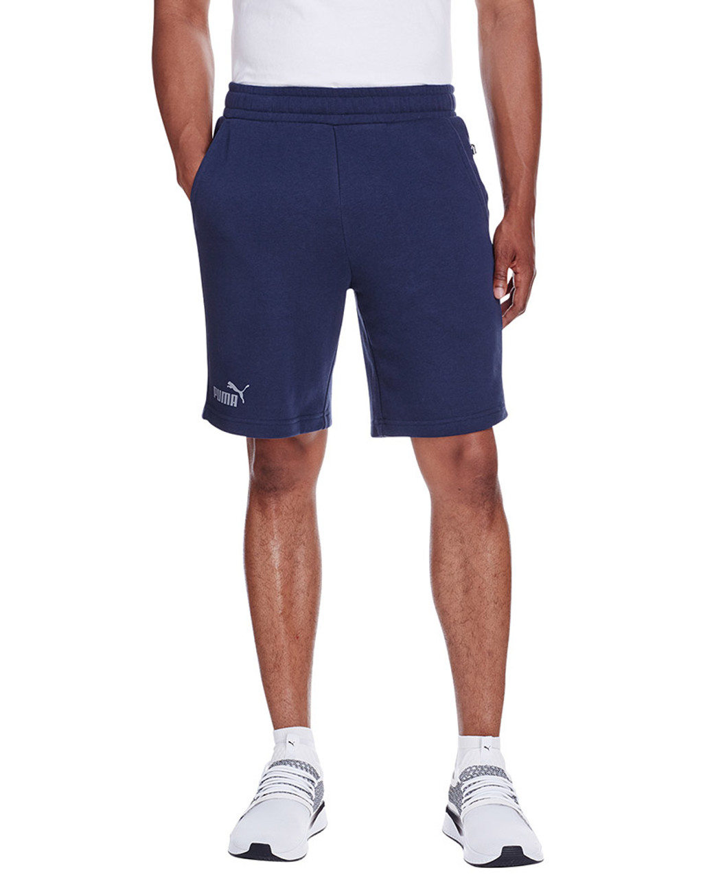 Peacoat/Quiet Shade - 582008 Puma Sport Essential Adult Bermuda Short | Blankclothing.ca