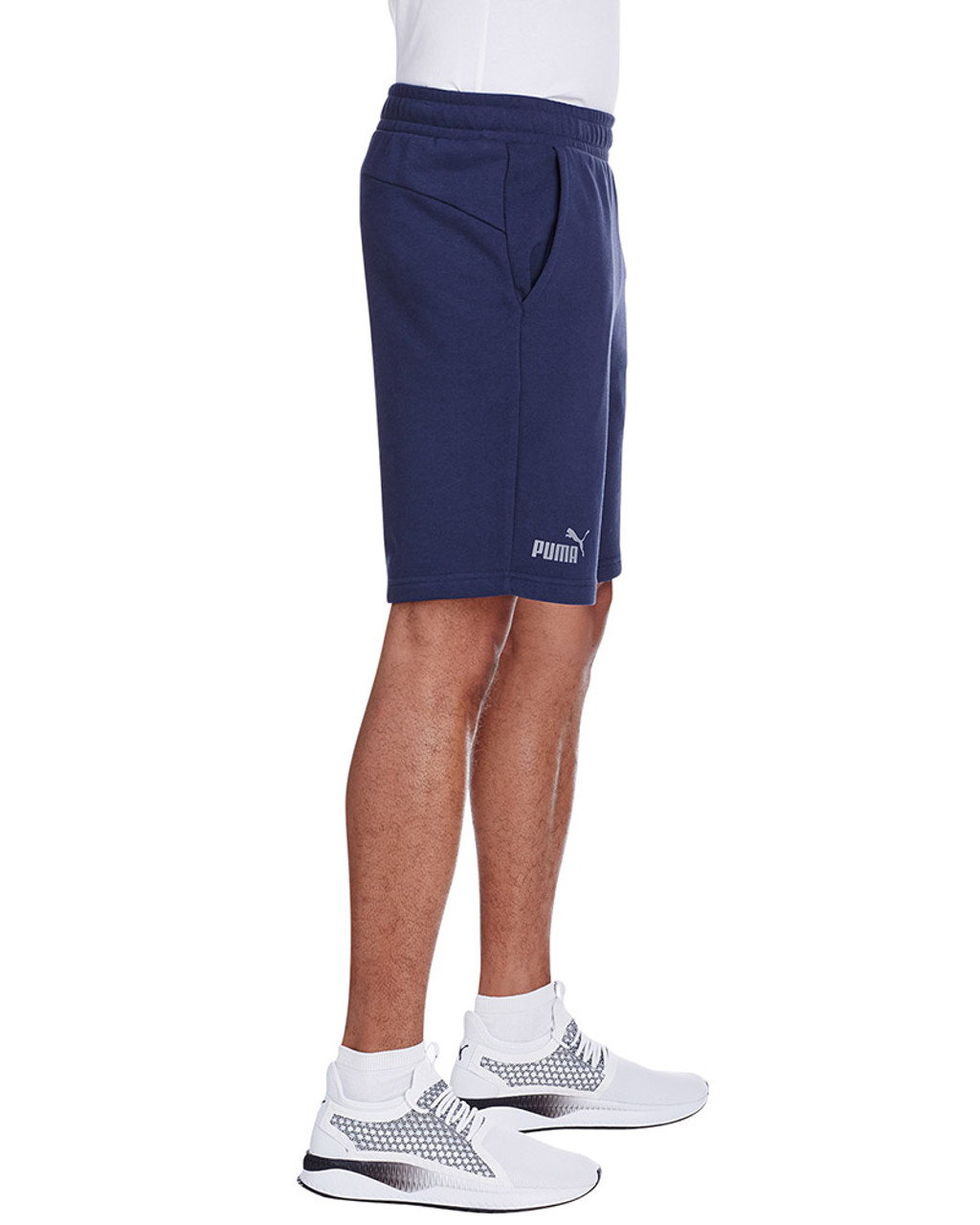 Peacoat/Quiet Shade - side, 582008 Puma Sport Essential Adult Bermuda Short | Blankclothing.ca