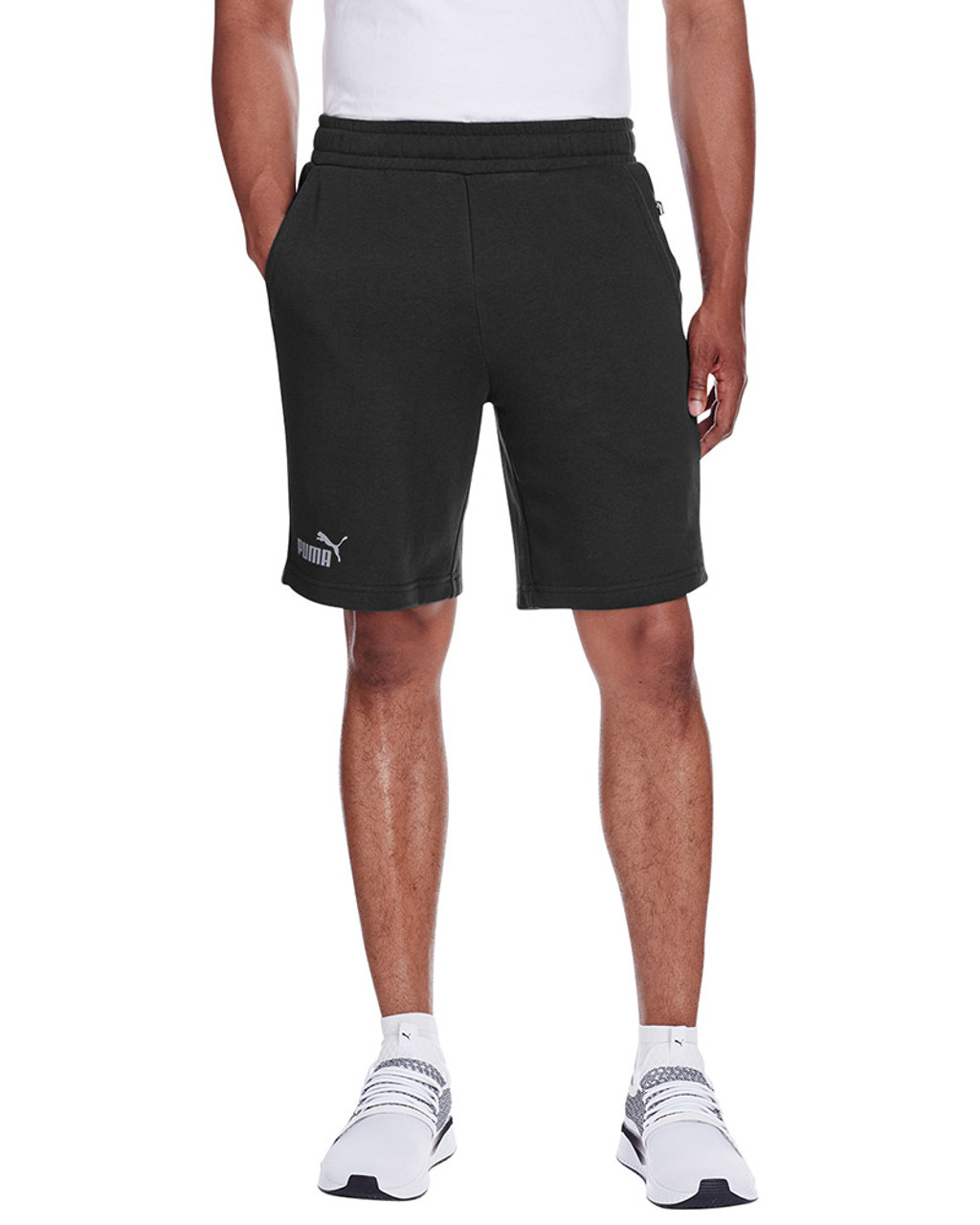 Puma Black/Smoke Pearl - 582008 Puma Sport Essential Adult Bermuda Short | Blankclothing.ca