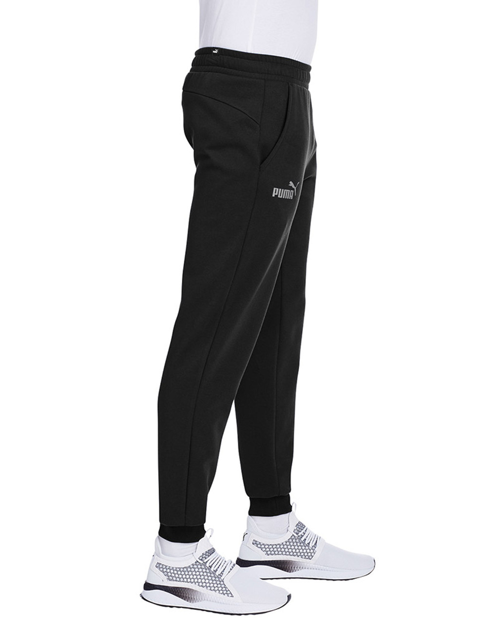Puma Black/Smoke Pearl - side, 596989 Puma Sport Essential Adult Logo Sweatpant | Blankclothing.ca