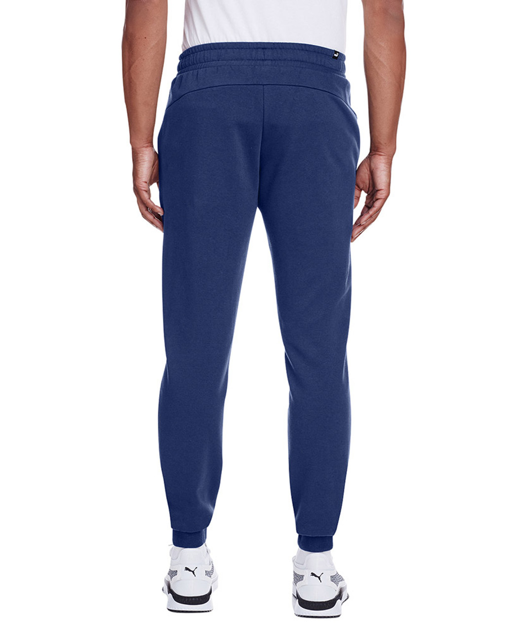Peacoat/Smoke Pearl - back, 596989 Puma Sport Essential Adult Logo Sweatpant | Blankclothing.ca