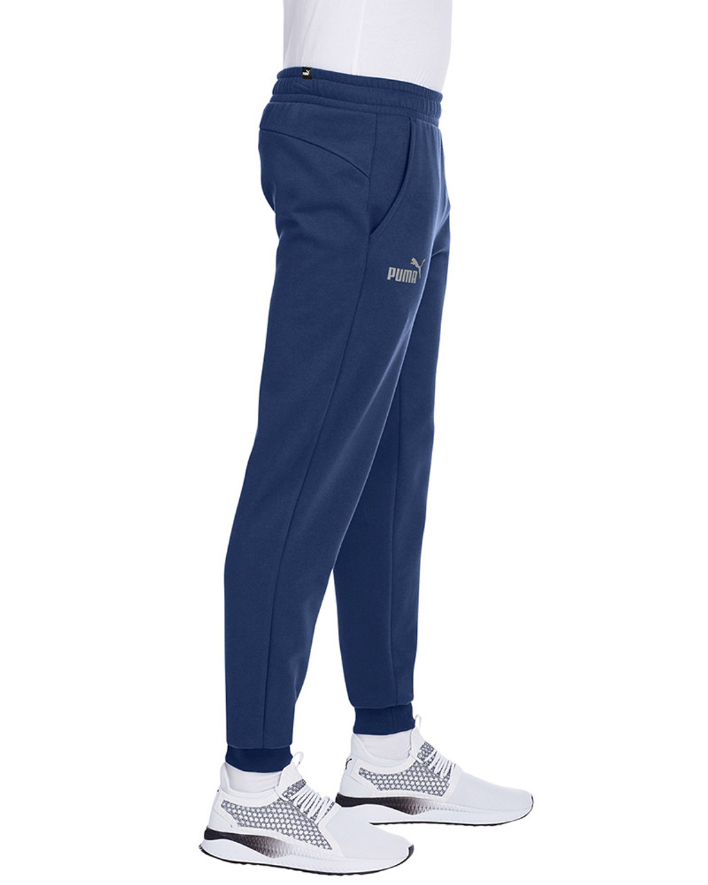 Peacoat/Smoke Pearl - side, 596989 Puma Sport Essential Adult Logo Sweatpant | Blankclothing.ca