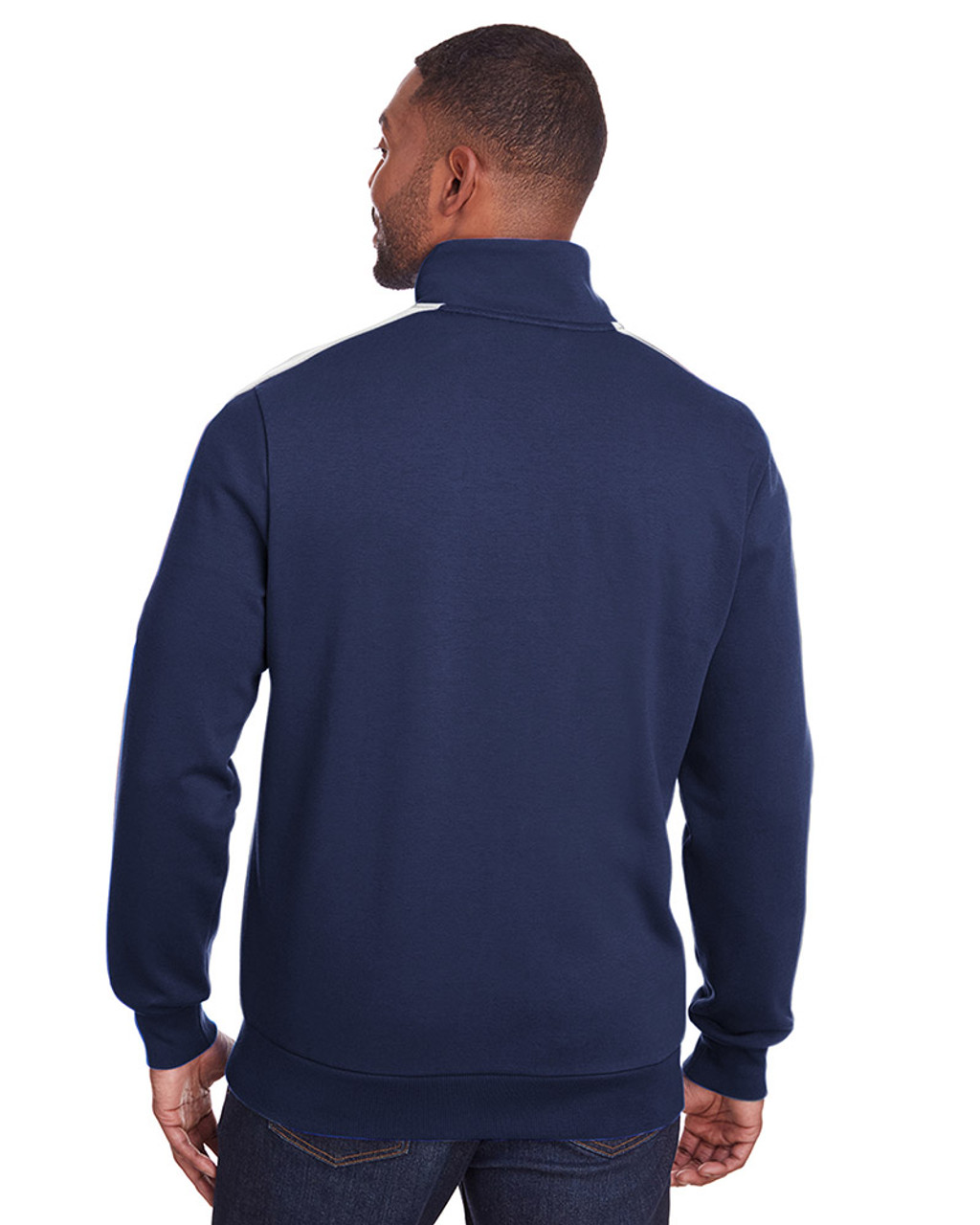 Peacoat/Quiet Shade - back, 597021 Puma Sport Adult P48 Fleece Track Jacket | Blankclothing.ca