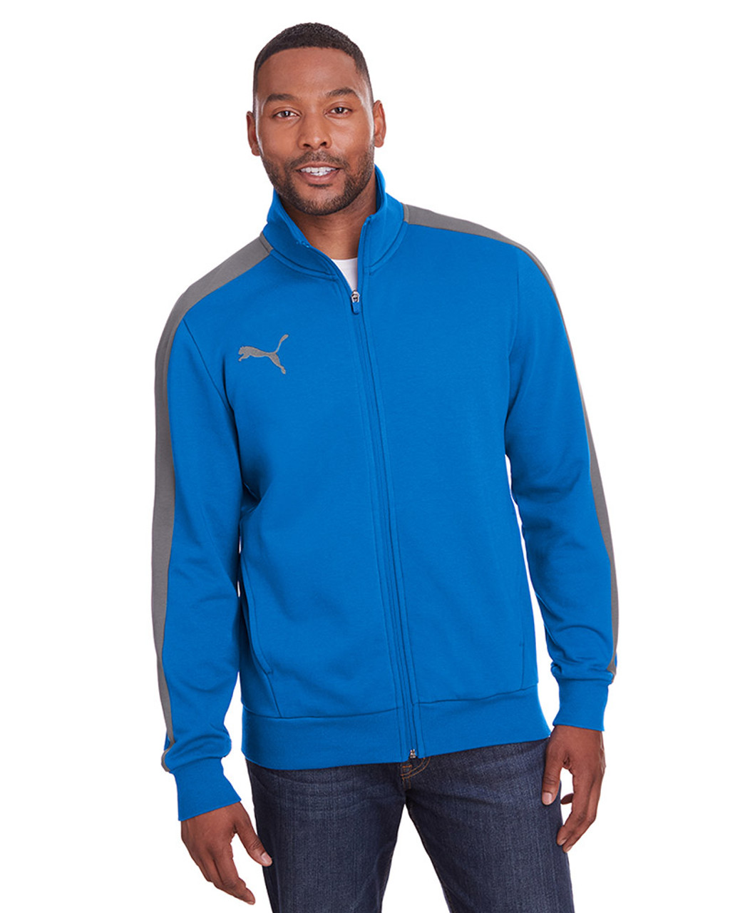 Lapis Blue/Quiet Shade - 597021 Puma Sport Adult P48 Fleece Track Jacket | Blankclothing.ca