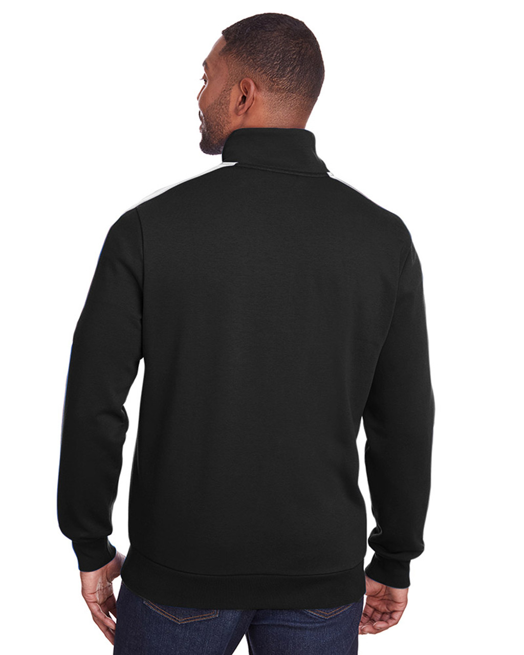 Puma Black/Puma White - back, 597021 Puma Sport Adult P48 Fleece Track Jacket | Blankclothing.ca