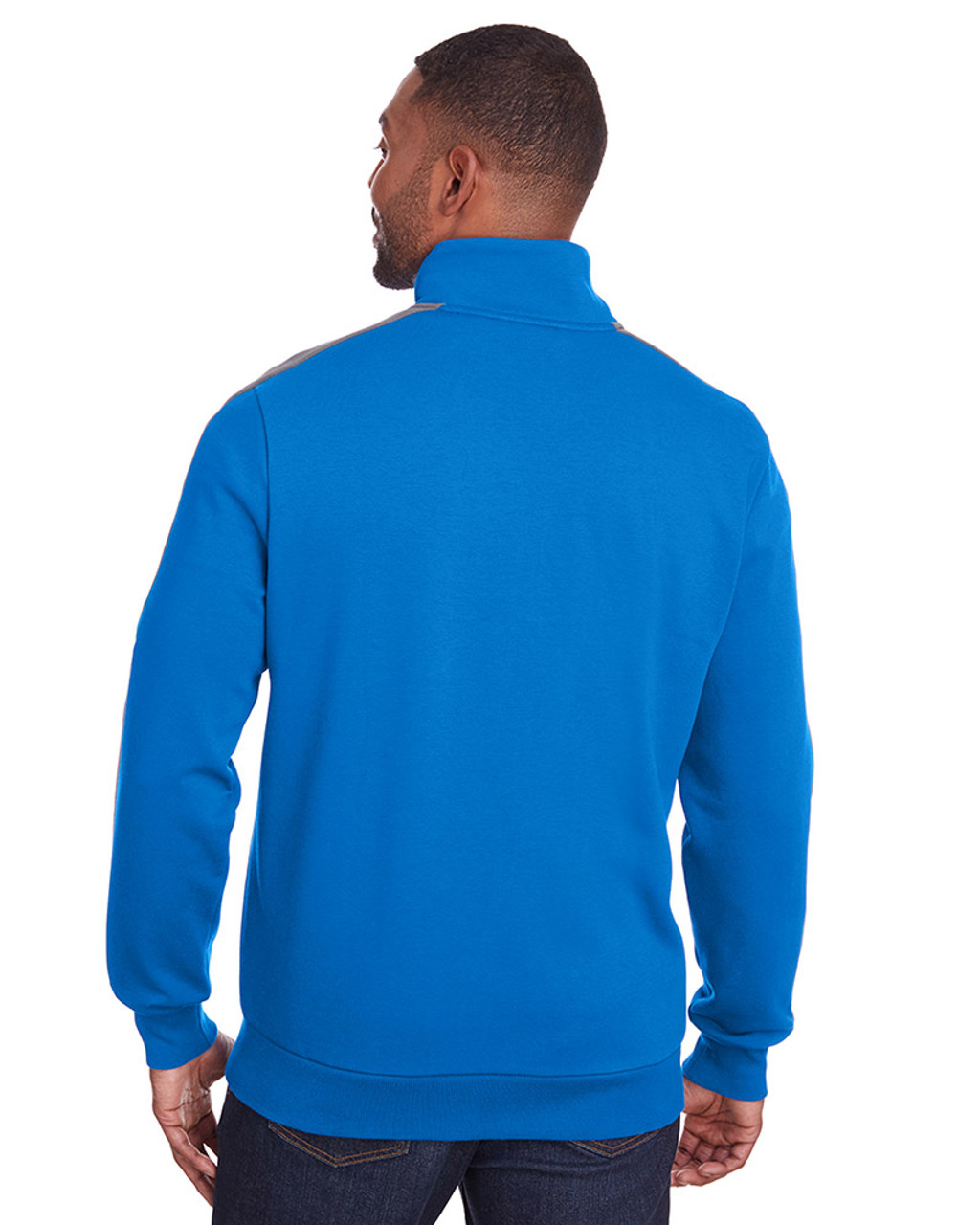 Lapis Blue/Quiet Shade - back, 597021 Puma Sport Adult P48 Fleece Track Jacket | Blankclothing.ca