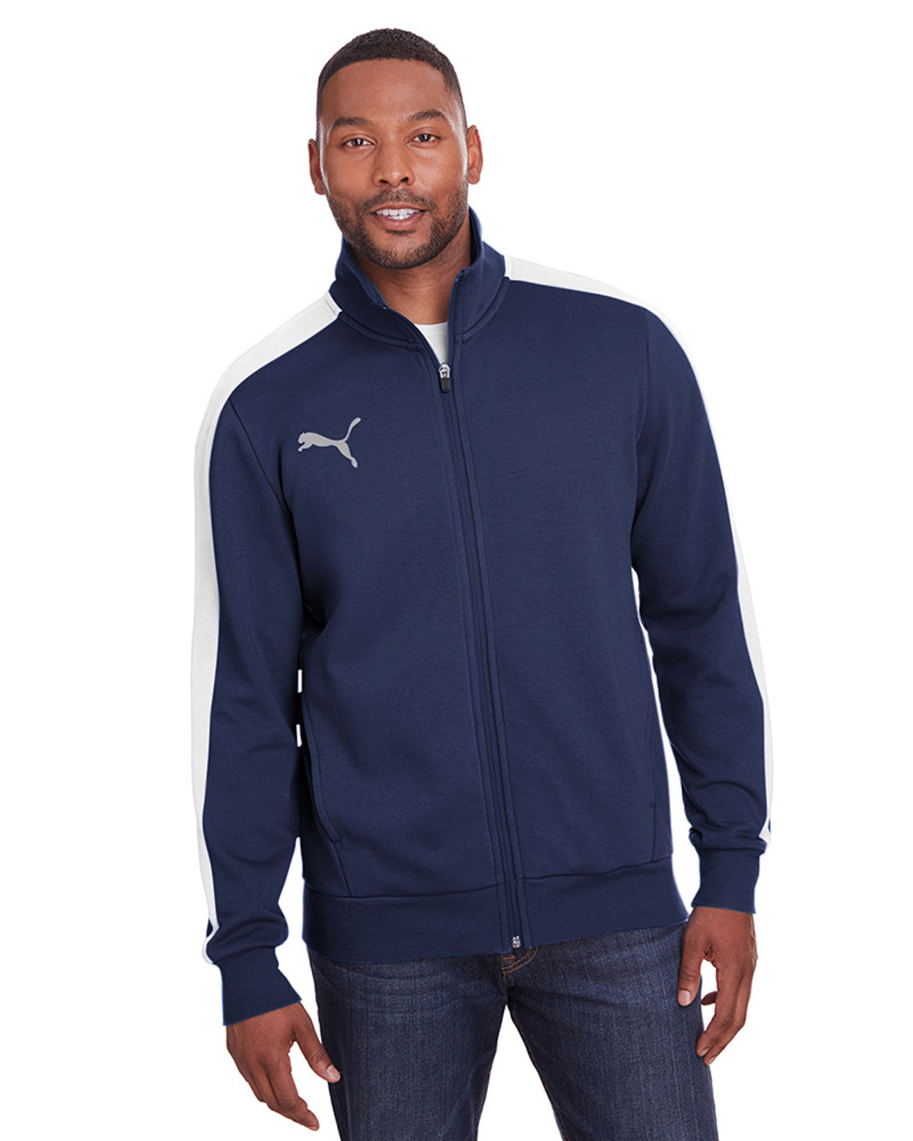 Peacoat/Quiet Shade - 597021 Puma Sport Adult P48 Fleece Track Jacket | Blankclothing.ca