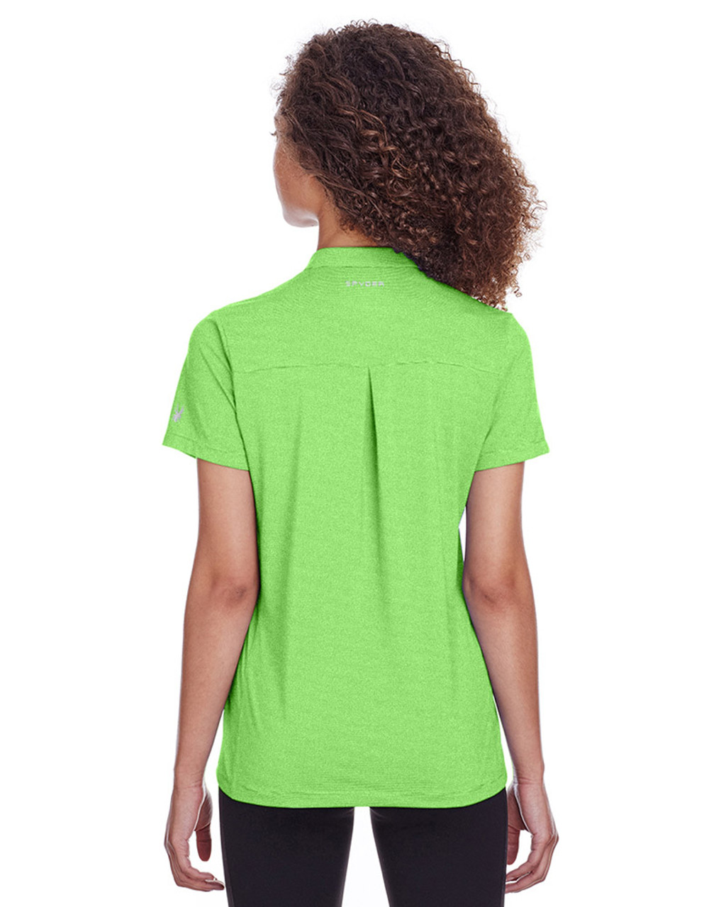 Lime Stripe - back, S16563 Spyder Ladies' Boundary Polo | Blankclothing.ca