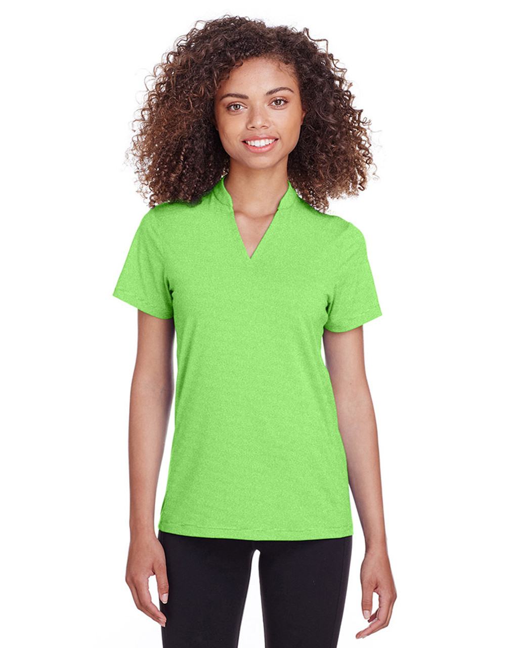 Lime Stripe - S16563 Spyder Ladies' Boundary Polo | Blankclothing.ca