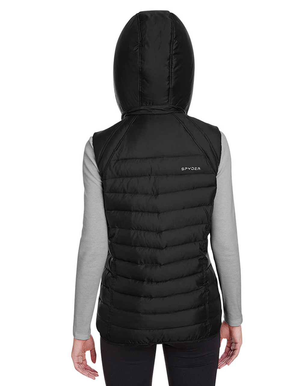 Black - back, S16641 Spyder Ladies' Supreme Puffer Vest | Blankclothing.ca