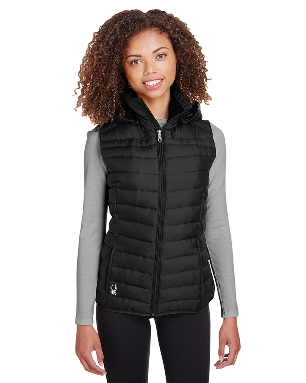 Black - S16641 Spyder Ladies' Supreme Puffer Vest | Blankclothing.ca