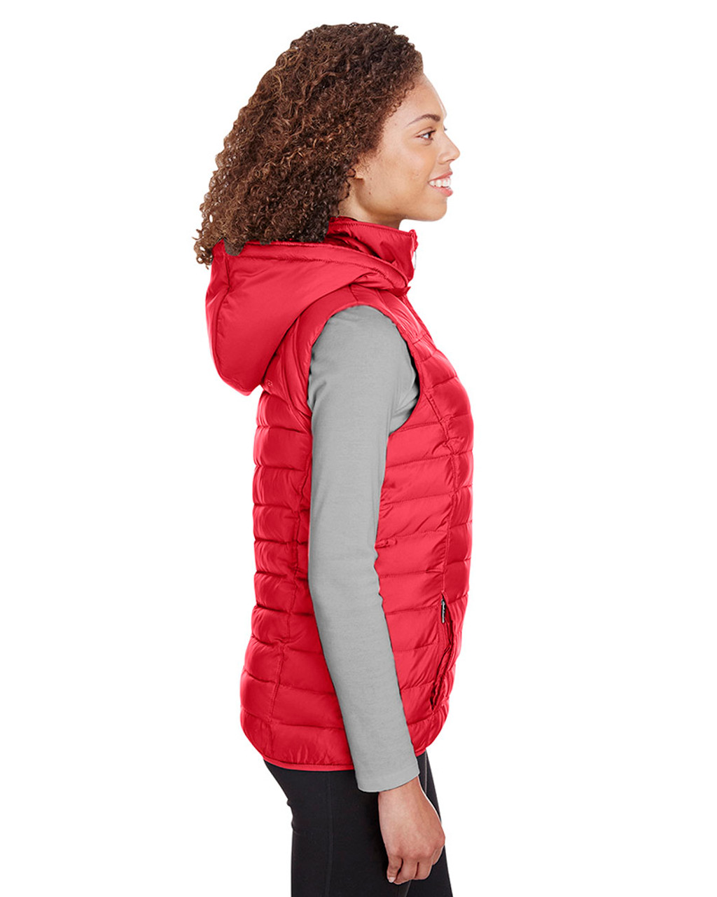 Red - side, S16641 Spyder Ladies' Supreme Puffer Vest | Blankclothing.ca