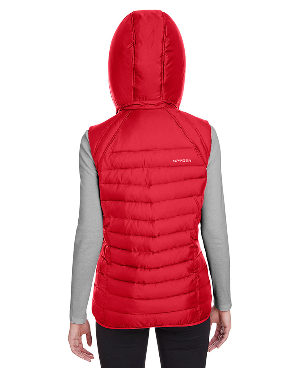 Red - back, S16641 Spyder Ladies' Supreme Puffer Vest | Blankclothing.ca