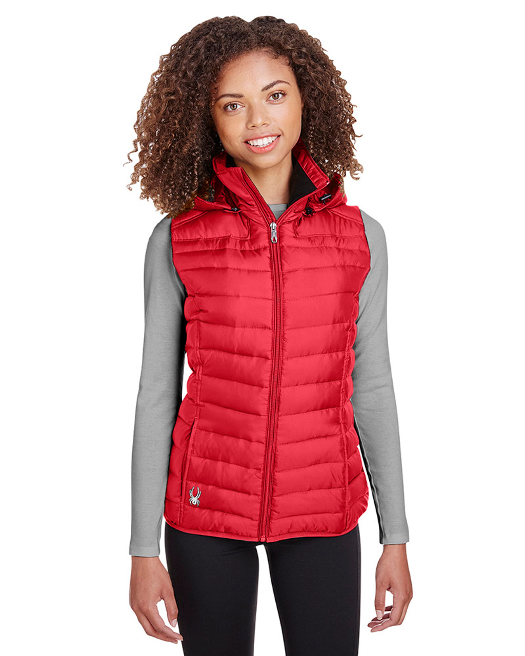 Red - S16641 Spyder Ladies' Supreme Puffer Vest | Blankclothing.ca