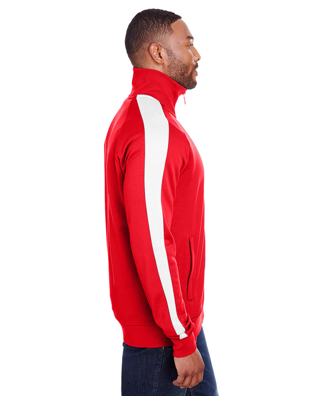 High Risk Red/Puma White - side, 582364 Puma Sport Adult Iconic T7 Track Sweatshirt | Blankclothing.ca