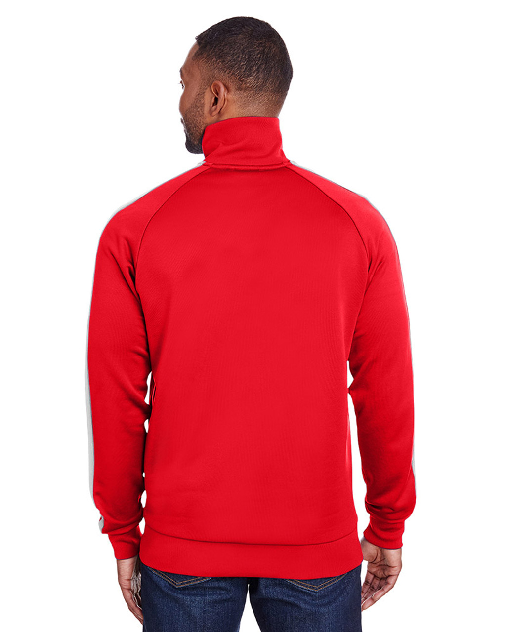 High Risk Red/Puma White - back, 582364 Puma Sport Adult Iconic T7 Track Sweatshirt | Blankclothing.ca