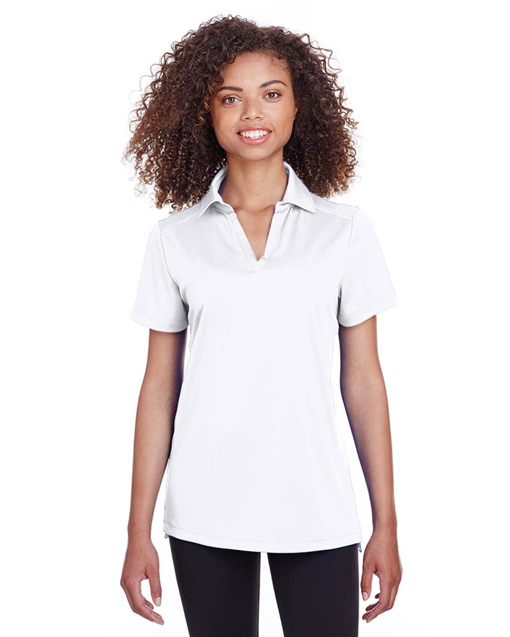 White - S16519 Spyder Ladies' Freestyle Polo | BlankClothing.ca