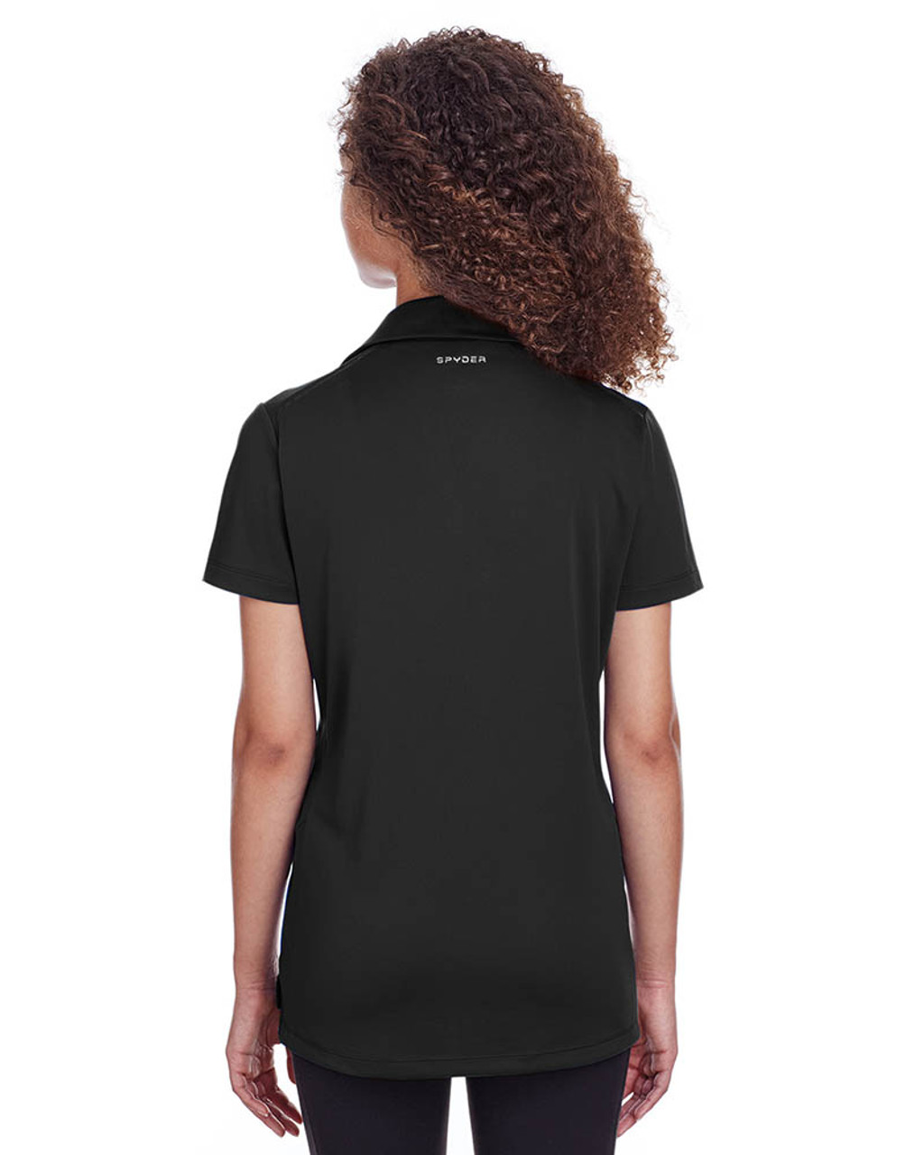 Black - Back, S16519 Spyder Ladies' Freestyle Polo | BlankClothing.ca